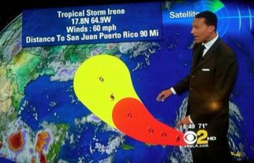 Hurricane Irene Weatherman