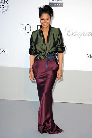 Janet Jackson amfAR Cinema Against aids Cannes 2011