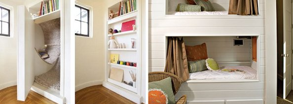 Interior Design Ideas Nooks and Curtained Cubbies in Kids Rooms