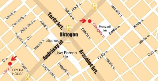 Treehugger Dan's Bookshops Location on the Map of Budapest
