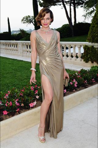 Mila Jovovich amfAR Cinema Against aids Cannes 2011