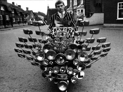 Mod Revival Scooter with Mirrors