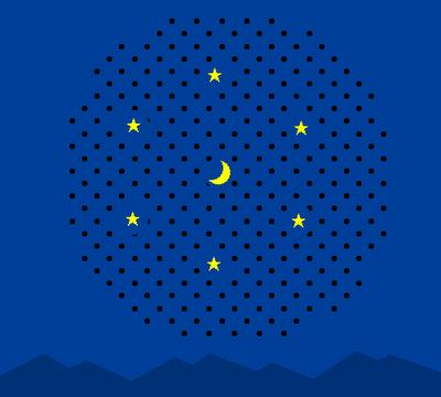 Night Sky Optical Illusion