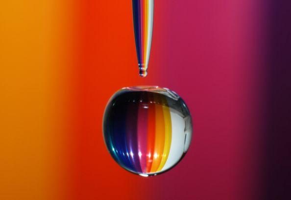 Rainbow Water Drop by Jonny Jelinek