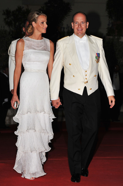 Royal Wedding Reception Gowns Monaco Charlene Wittstock