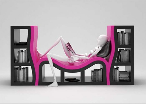 Shelves With a Bench