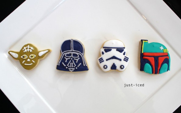 Star Wars Iced Cookies