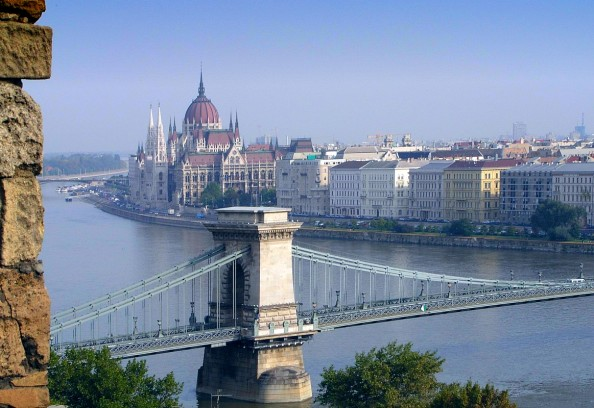 Panorama of the Parliament from Budapest