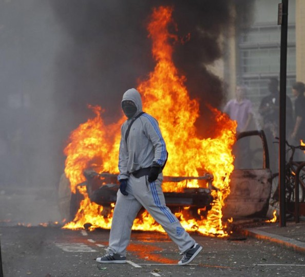 Burning and Looting in London 2011