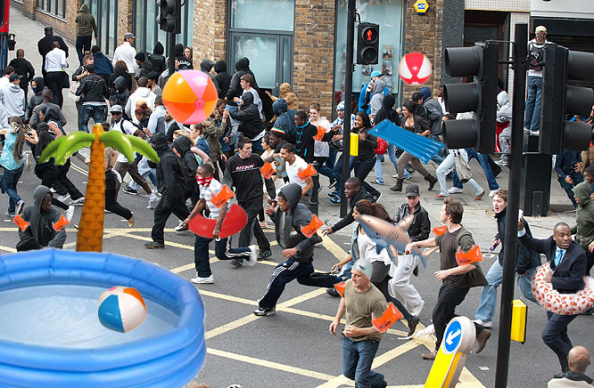 London Looters Beach Balls Spoof