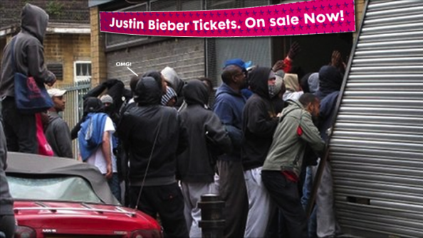 Justin Bieber Ticket Sales Triggering London Looters