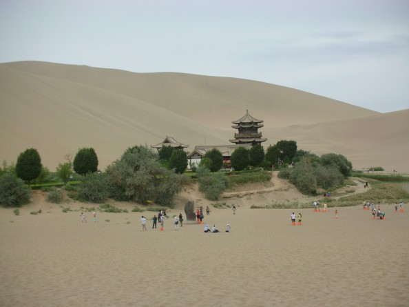 Natural Wonders China Crescent Moon Lake Oasis