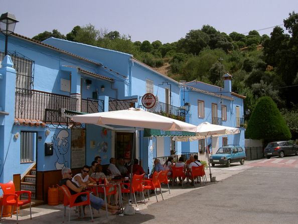 Bar From Juzcar Pueblo Pitufo Malaga Spain