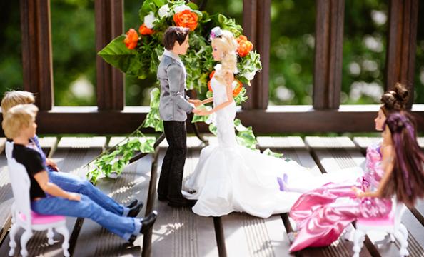 Barbie and Ken Wedding Photo Shoot Wedding Ceremony