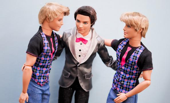 Barbie and Ken Wedding Photo Shoot Best Men