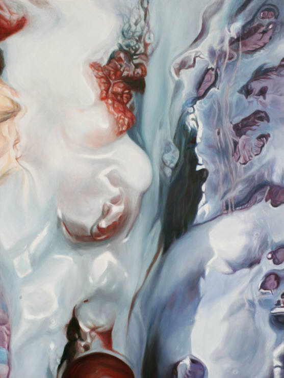 Creamed Cherry Crevasse Painting by Victoria Reynolds