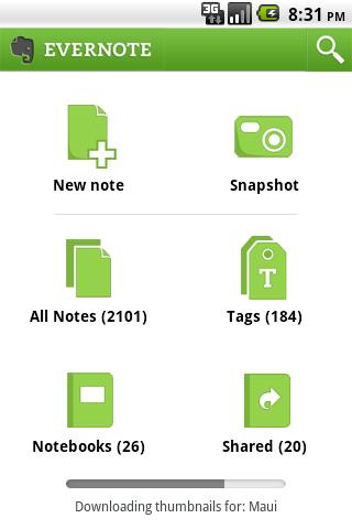 Evernote General View