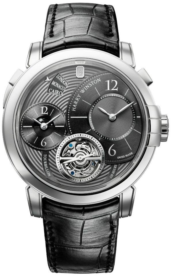 Harry Winston Midnight GMT Tourbillon Refined Only Watch 2011