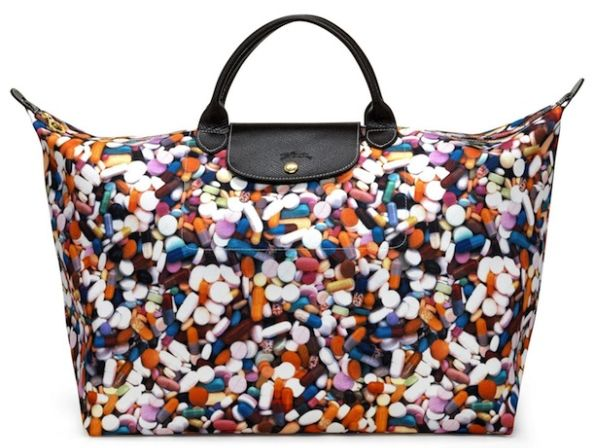 Jeremy Scott Longchamp Le Pliage Pills Bag