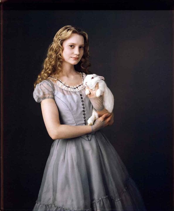 Mia Wasikowska as Alice in Tim Burton Version of Alice in Wonderland