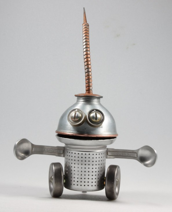 Oolick - Found Object Robot Assemblage Sculpture