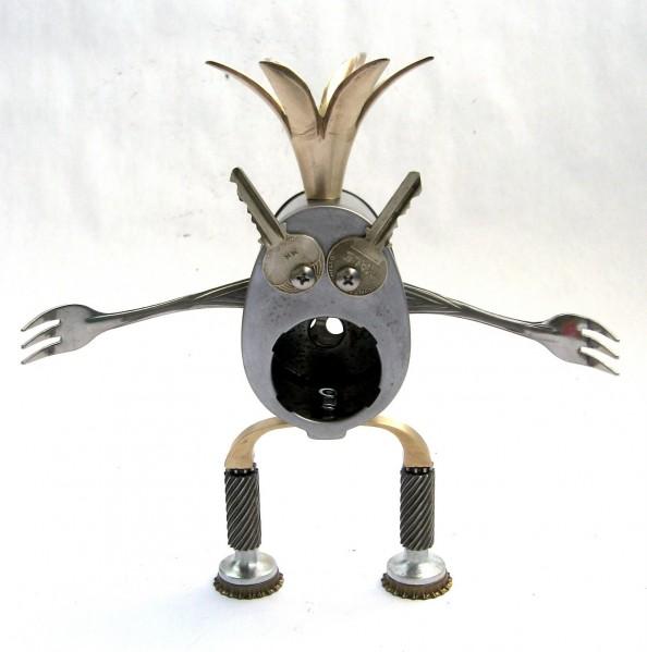 Sigmund - Found Object Robot Assemblage Sculpture By Brian Marshall
