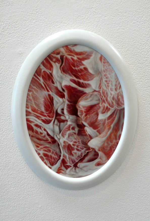 Slice of Grace-Pork Butt Painting by Victoria Reynolds