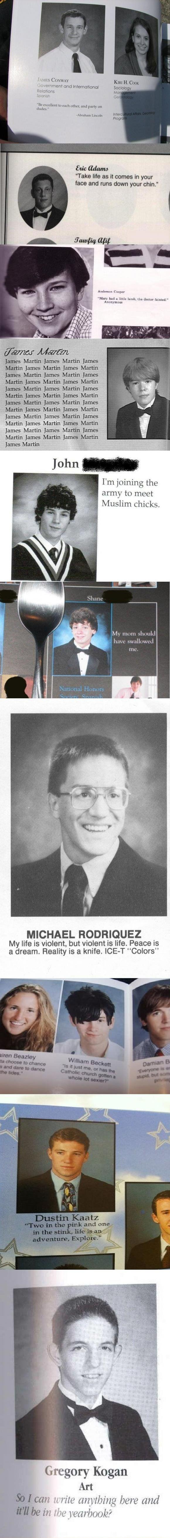 Funny Yearbook Quotes Wtf