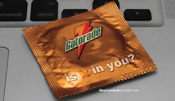 Branded Condoms Gatorade