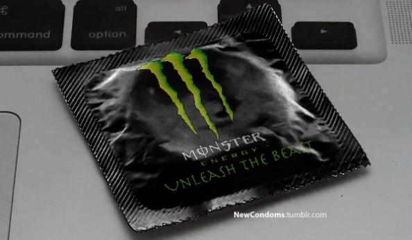 Branded Condoms Monster Energy