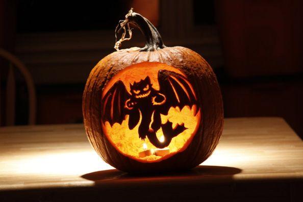 Dragon Halloween Pumpkin by Nemesis-19