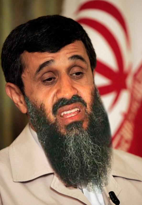 Osama Beard Frenzy Ahmadinejad