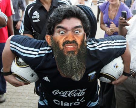 Osama Beard Frenzy Maradona