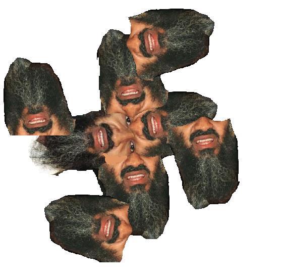 Osama Beard Frenzy Swastika