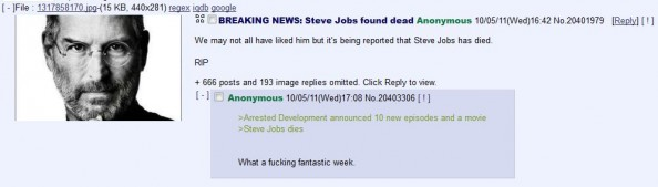 Steve Jobs Worst Death Jokes 4chan