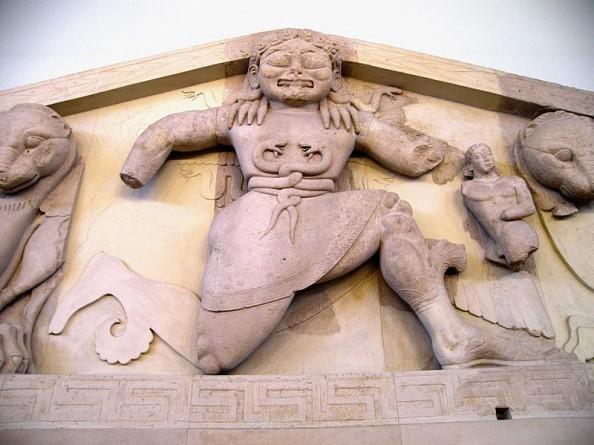 The Gorgon Medusa at Artemis's temple in Corfu