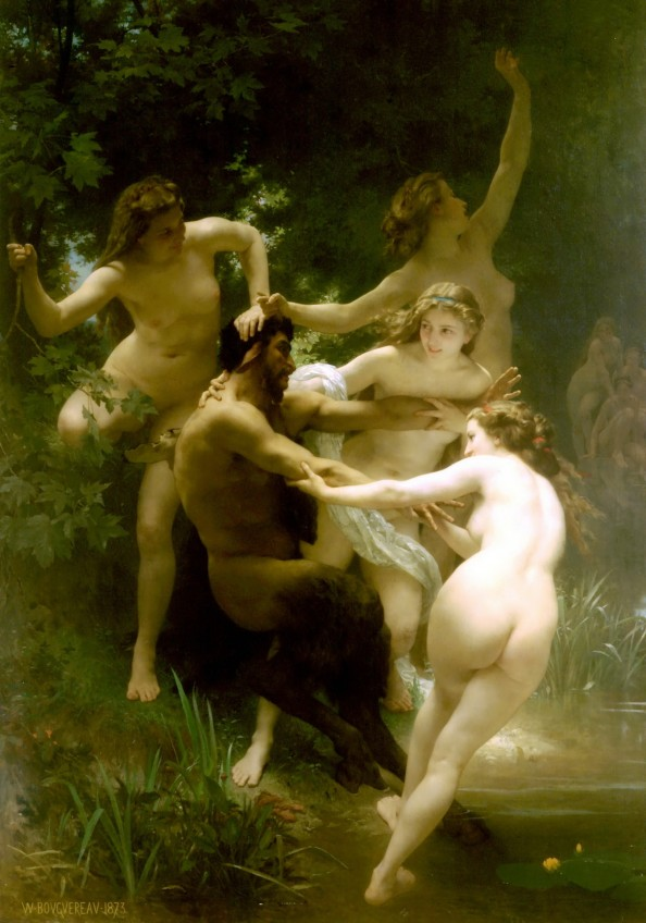 William Adolphe Bouguereau- Nymphes et Satyre