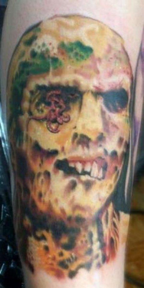 Zombies Monsters Tattoos Halloween Frankenstein