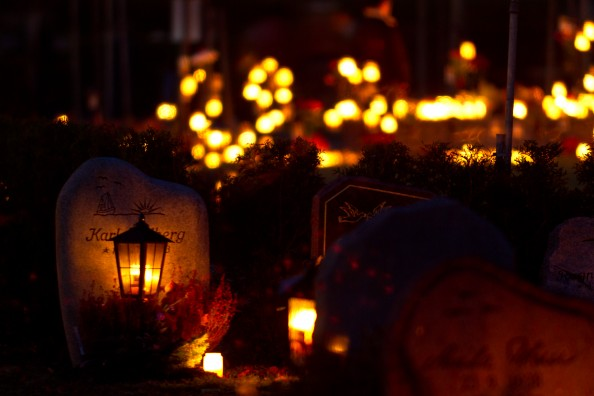 cemetery halloween traditions
