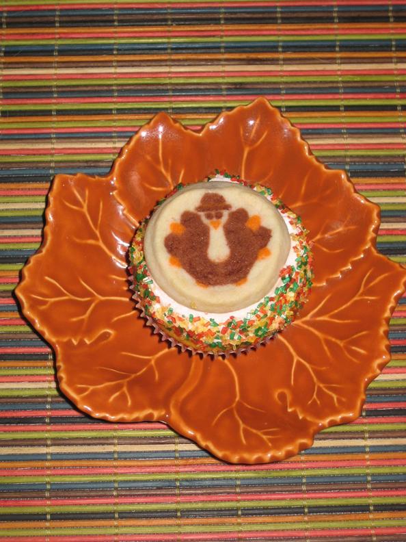 Mister Gobble Thanksgiving Cupcake