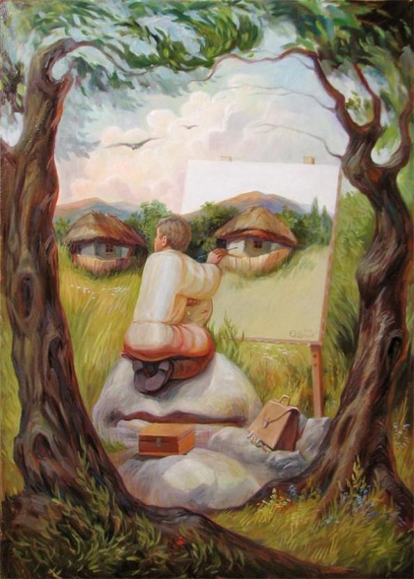 Oleg Shuplyak Hidden Images Paintings 2