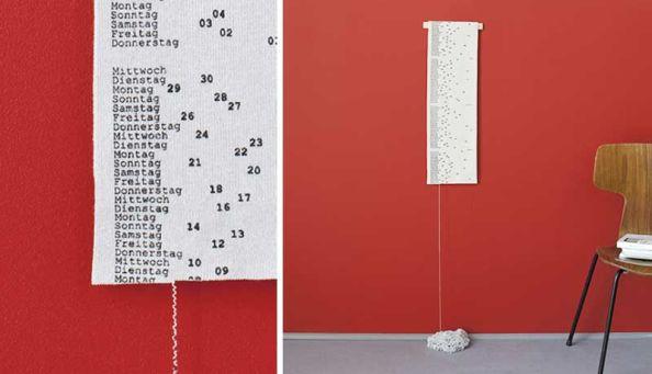 Scarf Calendar by Patrick Frey
