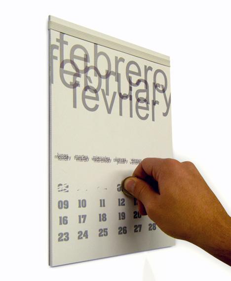 Scratch-Off Calendar Design by Augustin Zea