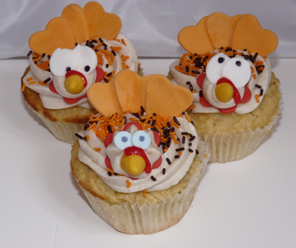 Thanksgiving Confused Turkey Cupcakes