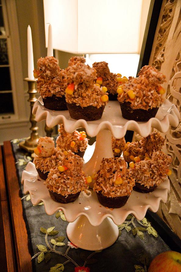 Thanksgiving Funky Turkey Cupcake
