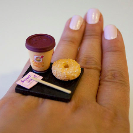 Coffee To Go With Donut Ring