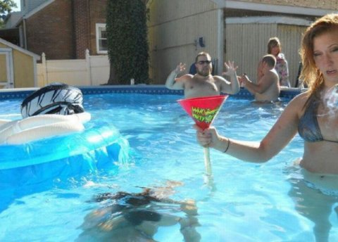 Picture At The Right Moment Pool Guy