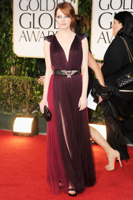 Emma Stone in Lanvin Golden Globes 2012