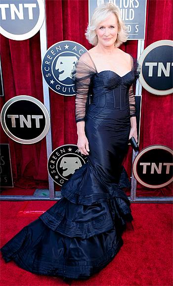 Glenn Close Wearing Zac Posen at the 2012 SAG Awards