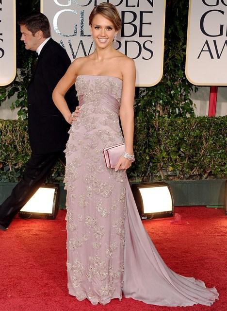 Jessica Alba in Gucci Golden Globes 2012